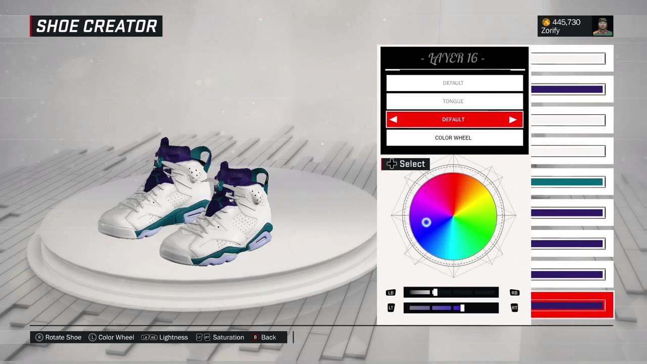 NBA 2K17 Shoe Creator - Air Jordan 6