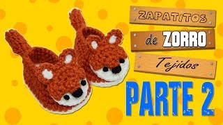 zapatitos de zorro tejidos a crochet | parte 2/2