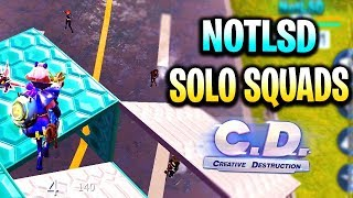 NotLSD Solo vs Squad #2 | Creative Destruction انا مش حلو فى اللعبة دى