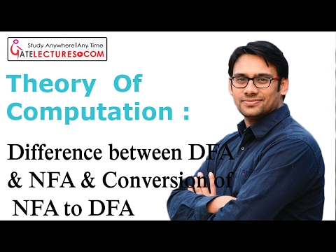13 Difference between DFA & NFA & Conversion of NFA to DFA