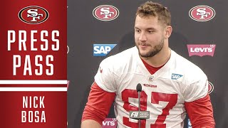 Nick Bosa: Defense's Focus is Stopping the Run | 49ers