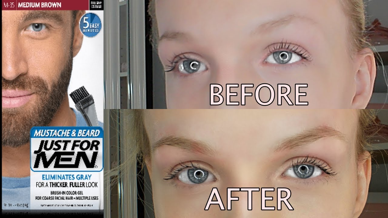 Dyeing My Brows W Just For Men Youtube