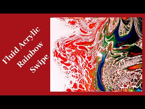 Fluid Acrylic Rainbow Swipe