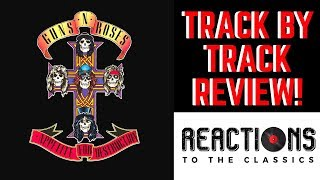 "Guns n' roses debut album ""appetite for destruction"" is up review today, and we give our reactions to roses' classic in a track by format! ..."