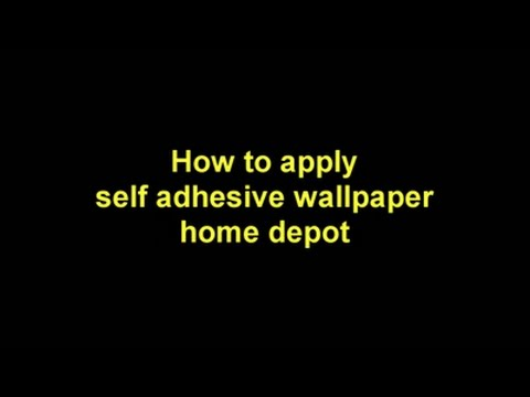 How To Apply Self Adhesive Wallpaper Home Depot By Wallstickery