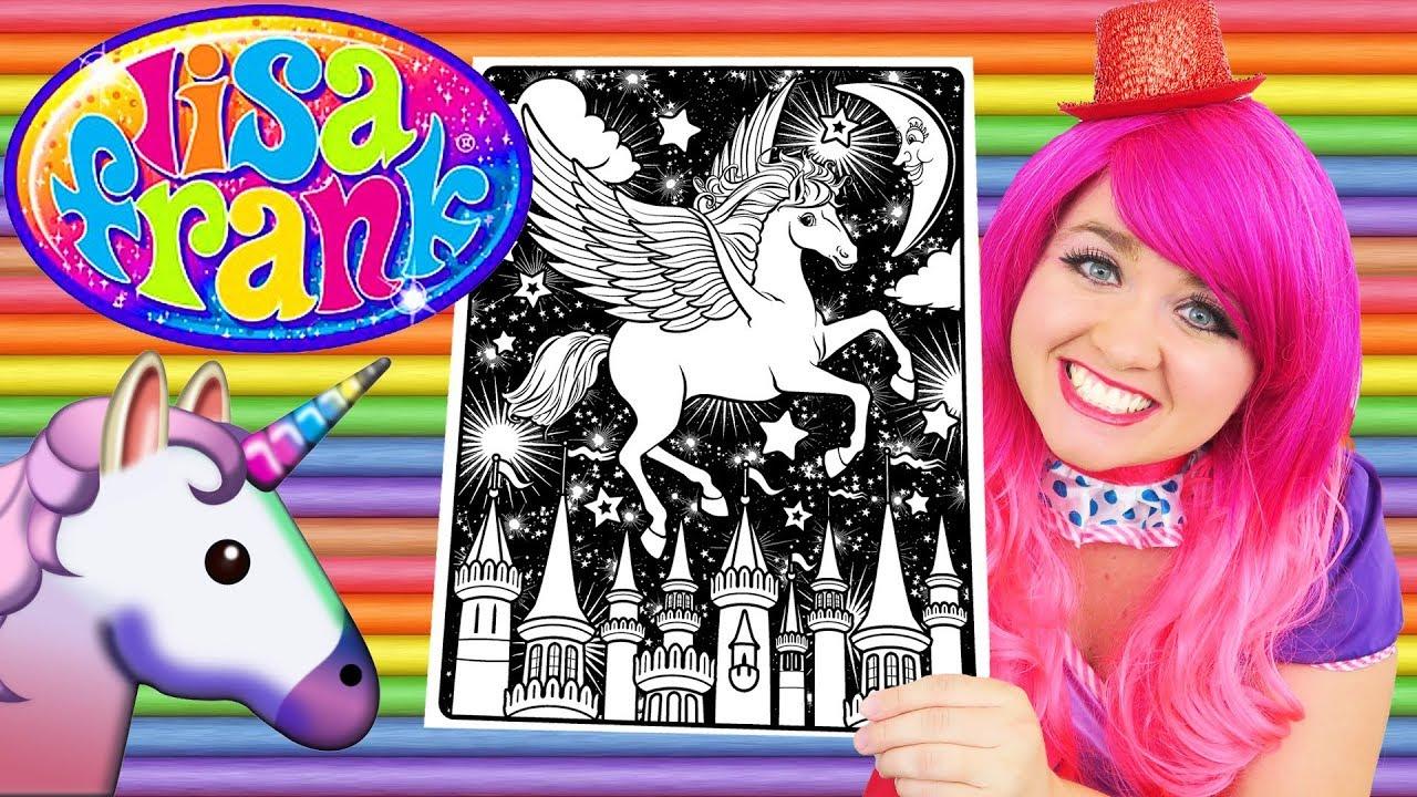 Coloring Lisa Frank Pegasus Coloring Book Page Prismacolor Colored Pencil Kimmi The Clown