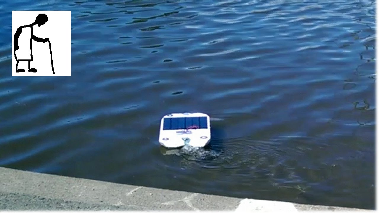 Solar Powered Rc Boat Stage 5 Sunny Day On The Lake Youtube