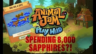 Spending 8,000 Sapphires?! Animal Jam Play Wild