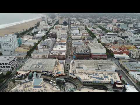 Los Angeles via Drone - Santa Monica