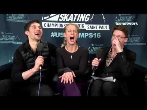 Hubbell & Donohue 2016 US Nationals Interview by Michael Buckley - Love life, Papadakis & Cizeron