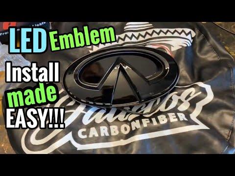 Infiniti Q50 LED emblem Install   Most Thorough Tutorial on YouTube!