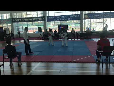 Первенство Дагестана юноши (2005-2007г) Алиев Абдулатип & Рабаданов Магомед 2 бой 33 кг.