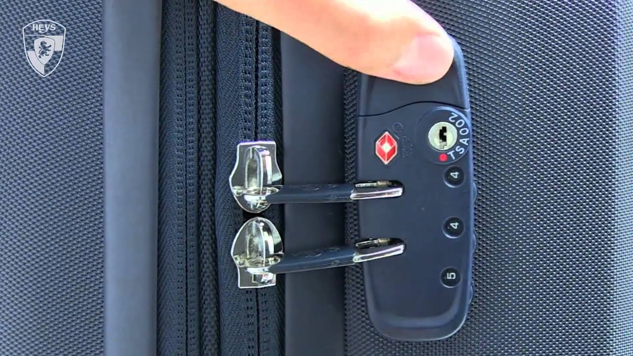 Heys TSA Lock Setup - YouTube