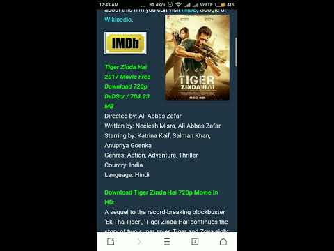 Tiger Zinda Hai 720p Bluray Download