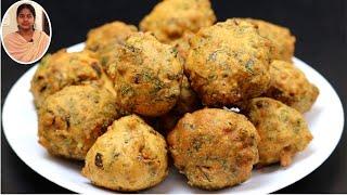 டீ கடை ஸ்டைலில் இதுபோல சுடசுட கீரை போண்டா செஞ்சி பாருங்க   Snacks Recipes in Tamil