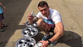 Как покрасить литые диски флейками без биндера(Покраска в флейки в гаражных условиях., 2016-05-28T13:08:14.000Z)