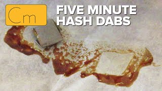Turning €5 hash into full melt Dabs in 5 minutes