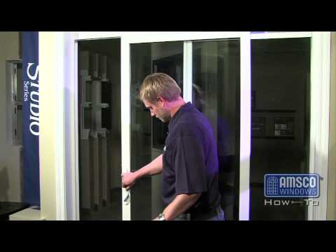 Adjusting the rollers on a sliding patio door