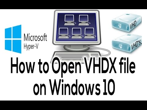 How to Attach VHDX format (Virtual Disk file) on Windows 10