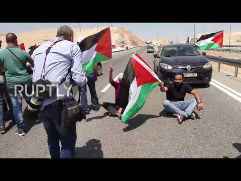 State of Palestine: 'Crime!' - Palestinians protest Israeli demolition of village