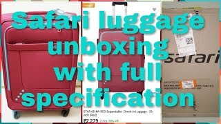 Safari check in luggage - 26 inch unboxing with full specifications