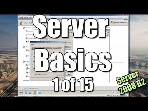Server Basics (1) | Setup a Domain Controller | Windows Server 2008 R2