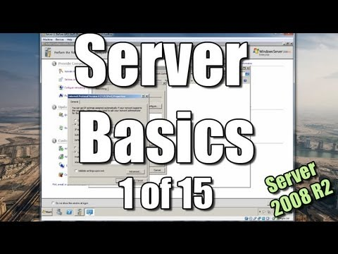 Server Basics 1  Setup a Domain Controller  Windows Server  R2