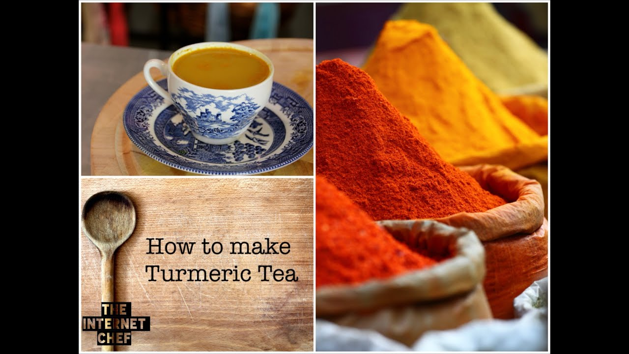 Health benefits of Turmeric Tea and How to make it  by World Cookbook Award  winner Bridget Davis ⭐⭐⭐