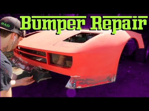 (DIY) Ferrari  KIT CAR front Bumper repair!