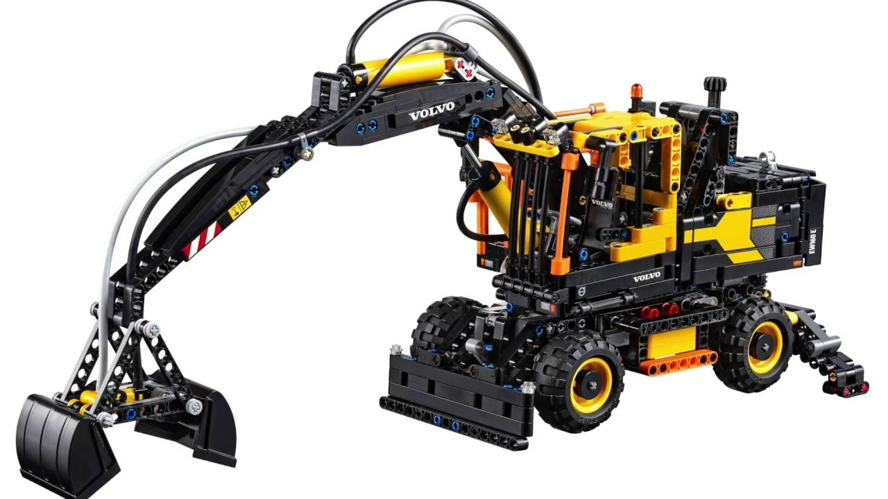 lego technic volvo ew 160e pneumatic digger 42053 high res images youtube. Black Bedroom Furniture Sets. Home Design Ideas