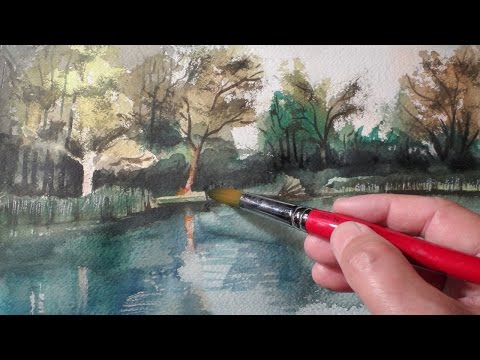Painting a Waterside Watercolour by Vamos