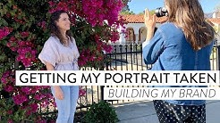 Getting my PORTRAIT TAKEN | Behind the Scenes of a Professional Photo Shoot | Business Branding