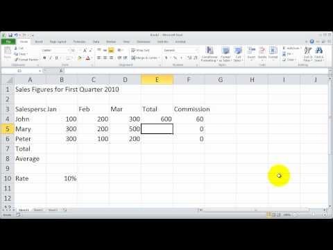 Part 5 - Fundamentals of Excel 2010