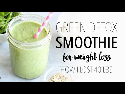 Green Detox Smoothie Recipe for Weight Loss | Easy & Healthy Breakfast Idea!