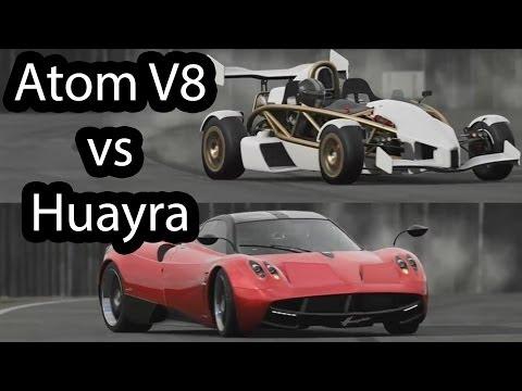 Ariel Atom V8 vs Pagani Huayra Top Gear