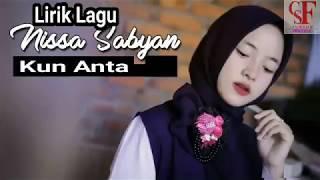 Kun Anta - Voc Sabyan - Lirik Lyric
