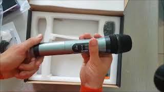 Microphone Professionnel Sans Fil Micro Sans Fil VHF Micro HF Karaoké Commentaires