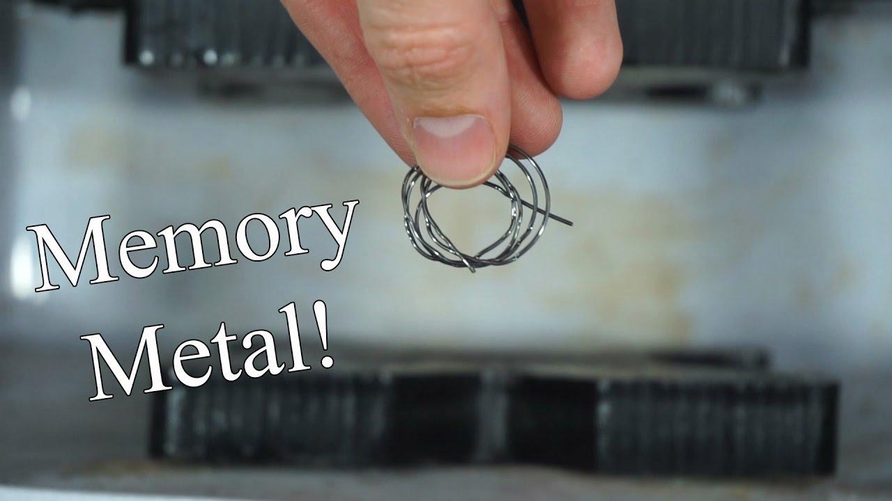 Nitinol Amazing Shape Memory Alloy - YouTube