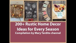 200+ Rustic Home Decor Ideas Compilation for Every Season