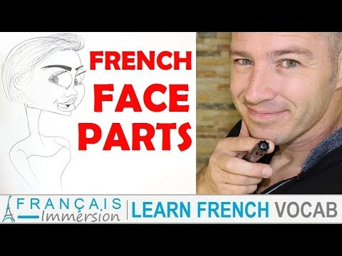 French FACE PARTS (BODY Vocabulary) - Le Visage + FUN! (Learn French with Funny French Lessons)