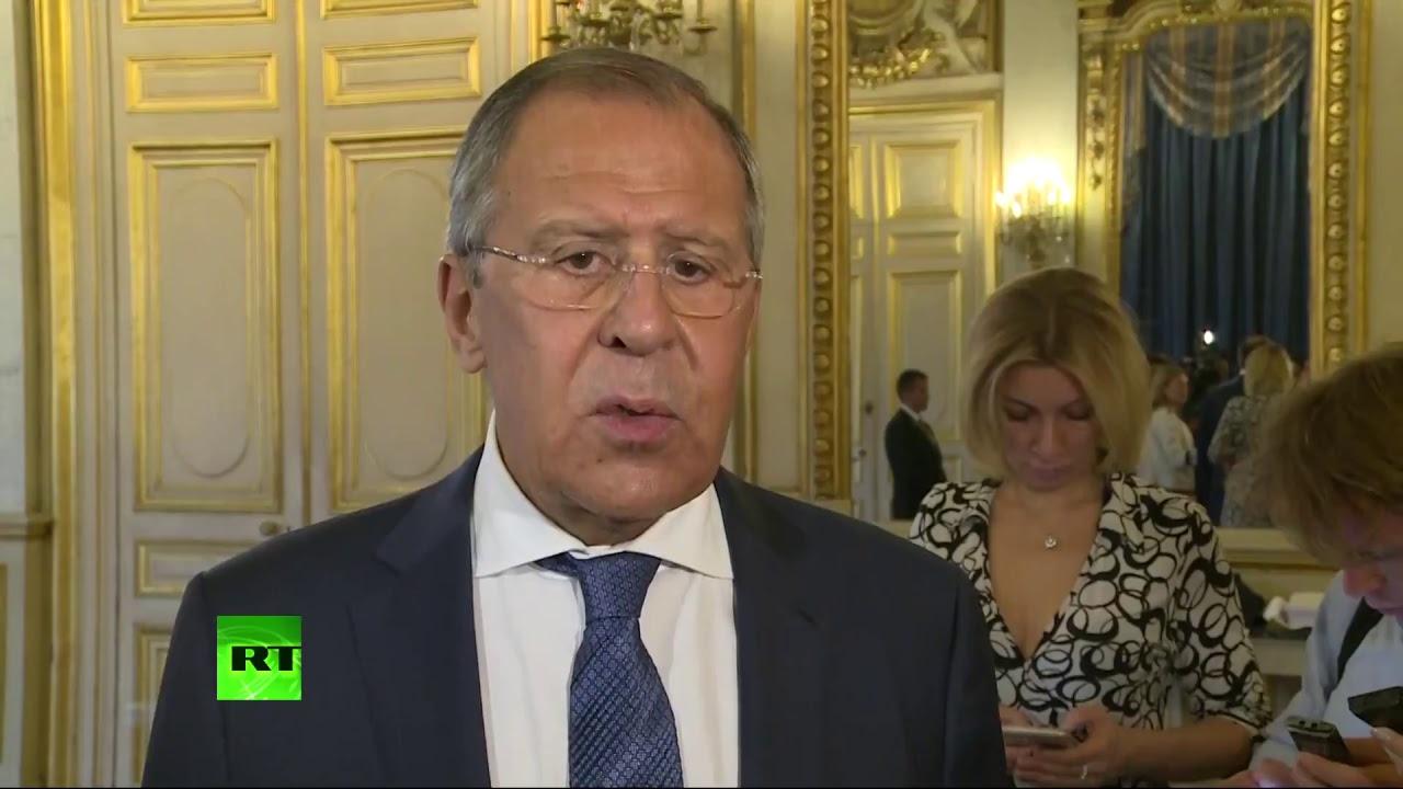 Пресс-конференция Сергея Лаврова журналистам российских СМИ в Париже