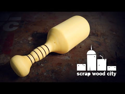 Make a wood carver's mallet on the lathe - Woodturning