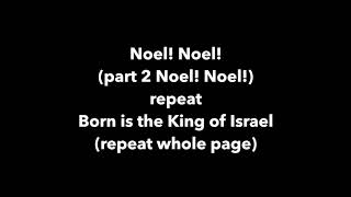 Noel! Practice video for The First Leon Musical