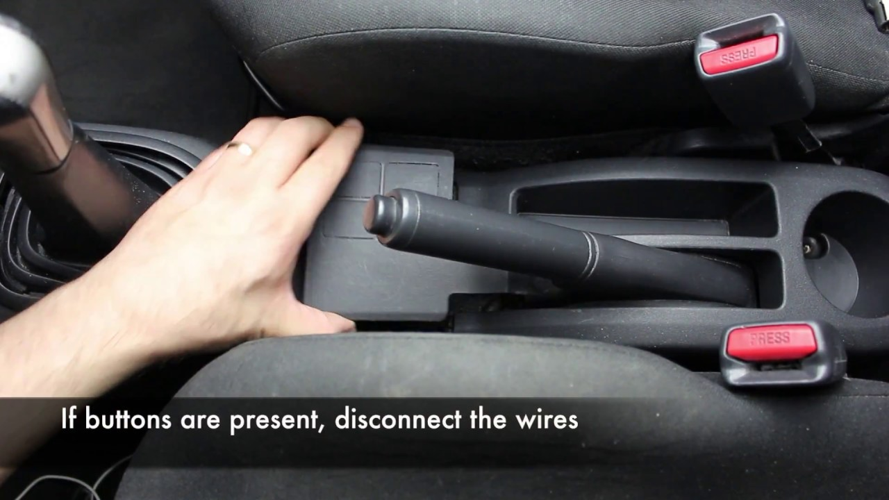 Toyota Yaris How to adjust the Handbrake YouTube