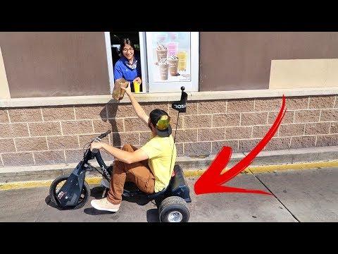 Electric Drift Trike!  (in a Drive Thru)