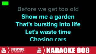 Chasing Cars Lyrics - Snow Patrol Acoustic Versions - Karaoke 808