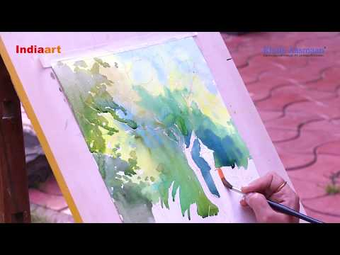 Watercolour Painting - Live demonstration by Chitra Vaidya - Part 2