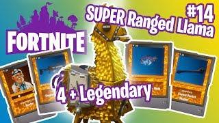 Super Ranged Llama smashing | 4 + Legendary | Fortnite #14
