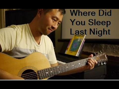 Nirvana Where Did You Sleep Last Night Cover Guitar With Lyrics