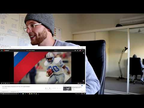 Rugby Player Reacts to BARRY SANDERS Top 10 NFL Touchdowns Of All Time YouTube Video
